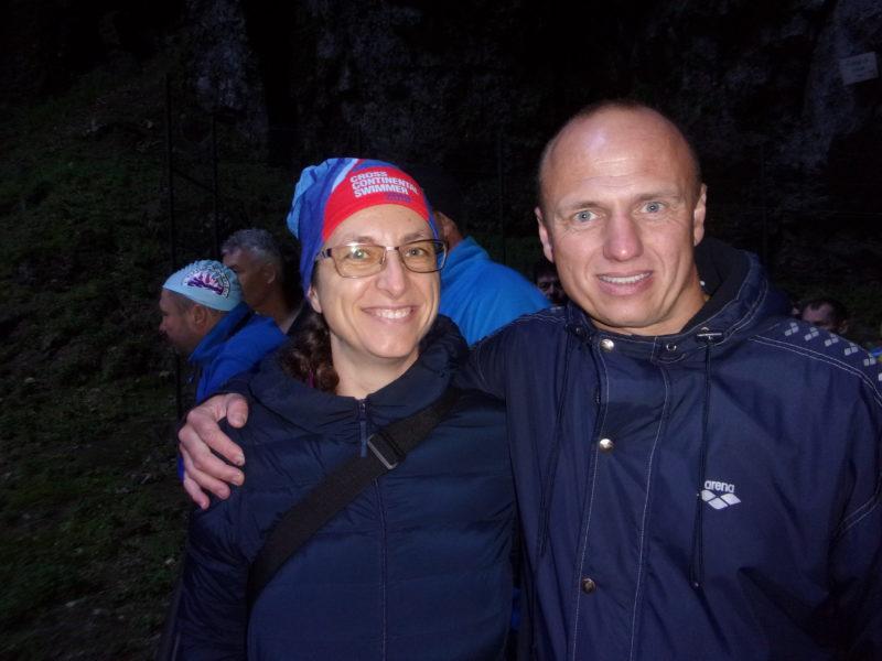 otužilci Abhejali Bernardová a Jakub valníček, Punkva 2019