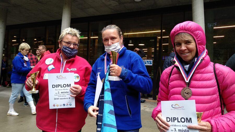 vyhlášení Českého poháru v zimním plavání - ženy masters B